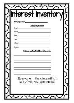 First Week of School Activity Printouts