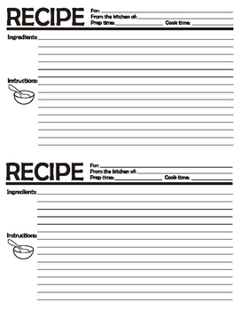 First Week of School Activity to Get to Know Students - Symbolic Recipe