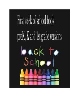 First Week of School Book