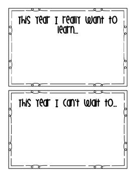 First Week of School Booklet