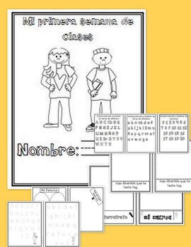 First Week of School Booklet: SPANISH VERSION