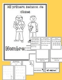 First Week of School Booklet SPANISH VERSION