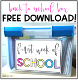 First Week of School Box FREEBIE