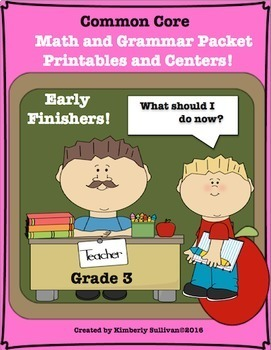 End of the Year Activities Review Bundle Math Language Arts No Prep  Centers