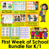 First Week of School Bundle Value + First Day of School Ac