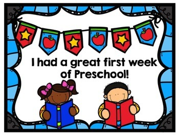 First Week of School Certificates