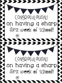 First Week of School Certificates
