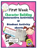 First Week of School Character Education Chart Activities