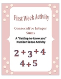 First Week of School: Consecutive Integer Sums - A Number