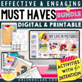 Get to Know Your Students Digital Activities BUNDLE ( Perf