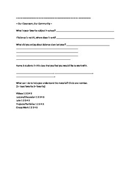 First Week of School Documents!