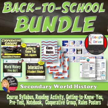 BACK-TO-SCHOOL BUNDLE for Secondary World History!