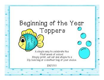 First Week of School Fish Treat Bags
