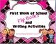 First Week of School Flip Books