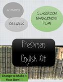Freshmen High School English Kit: Syllabus, Classroom Management, etc.
