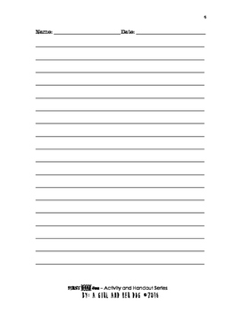 First Week of School Fun - A Letter to My Teacher
