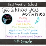 First Week of School Getting to Know You Activities