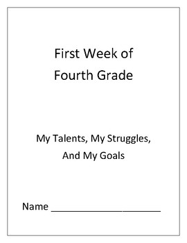 First Week of School: Goal Setting