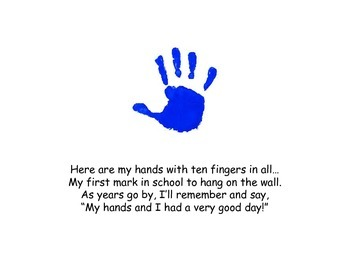 First Week of School Handprint