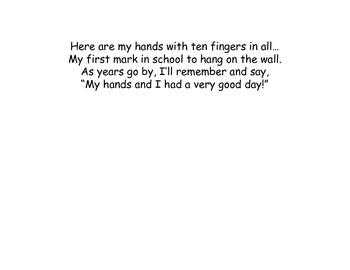 First Week of School Handprint