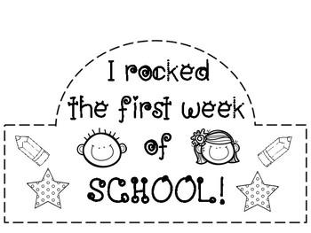 First Week of School Hats