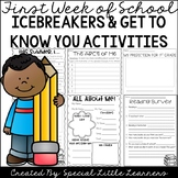 First Week of School: Icebreakers & Get to Know You Activities
