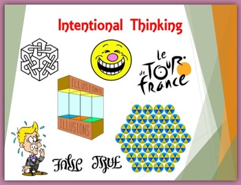 First Week of School - Intentional Thinking