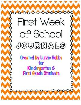 First Week of School Journal Reflections