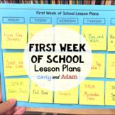 First Week of School Lesson Plans BUNDLE