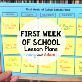 First Week of School Lesson Plans BUNDLE
