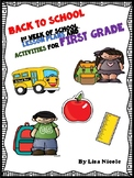First Week of School Lesson Plans and Activities for 1st Grade
