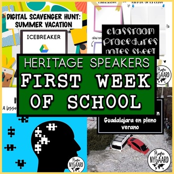 First Week of School Lesson Plans for Heritage Speakers Class
