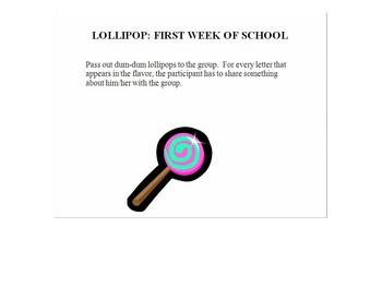 First Week of School-Lollipop