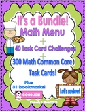 Fall Review Bundle Math Money Word problems Task Cards Game
