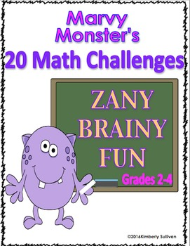 Math Marvy Monster's Challenges Centers Printables