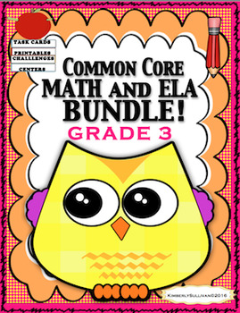 Fall Review Morning work Math and ELA Bundle! Common Core Grade 3