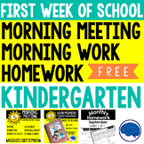 First Week of School Meeting, Morning Work & Homework