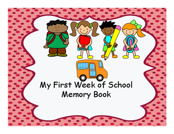First Week of School Memory Book