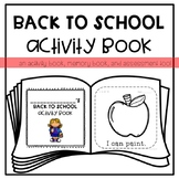 Back to School Activity *Memory* Book for Young Learners or Special Education