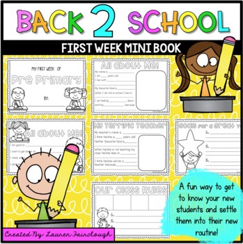 First Week of School Mini Book