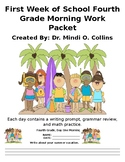 First Week of School Morning Work for Fourth Grade