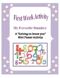 First Week of School: My Favorite Number - A Get to Know Y