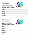 "First Week of School - ""My Goals"" Sheet"