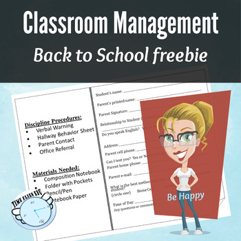 First Week of School - One Pager for Syllabus {Editable}