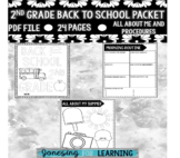 First Week of School Packet- Second Grade Edition