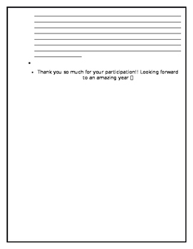 First Week of School Parent Survey (Editable)