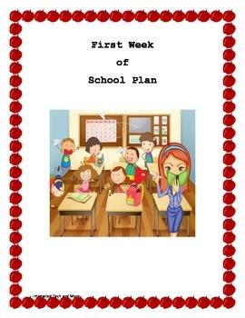 First Week of School Plan