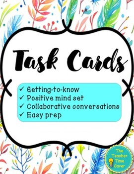 Positive Growth Mindset Task Cards