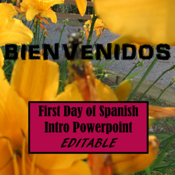 First Week of School PowerPoint for Spanish Class