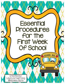 First Week of School Procedure Checklist